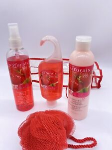 Avon Naturals Strawberry & Guava 5 Pc Gift Set New /Not Full* See Photos