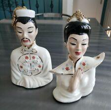 Vintage Original Muriel of California Asian Busts Kwang Hsu & Chin Feng, Labeled