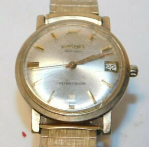 Vintage Longines Automatic Ultra Chron Mans Wristwatch Watch Gold Filled Case