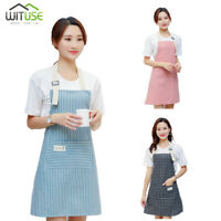 Apron For Men Women Adjustable Bib Kitchen Cooking Aprons Dress With Pockets 14