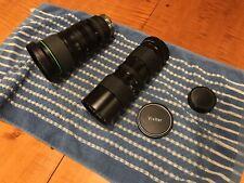 Lens Lot Canon BCTV Lens YH17x7   7-119mm  Vivitar 85-205 1:3.8 Macro JAPAN NICE