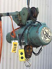 ROBINS & MEYERS 1/2 Ton  Hoist J1B 220/440v Electric 3 Phase W/Trolley