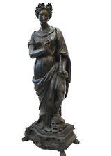 19th-C.French White Metal /Bronze Muse Melpomene Sculpture
