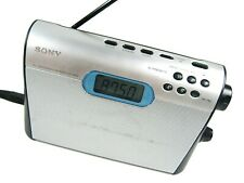 SONY ICF M600 Stereo Portable Compact Digital Radio Tuner AM FM Silver 220v Cord