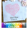 Personalised Wedding Sweet / Sweetie - Candy Cart Favour Bags - Love Hearts