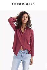 J Crew. Womens 100% Silk Long Sleeve Blouse. Size 8. New!!!