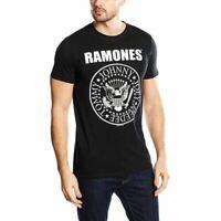 Mens Ramones Seal Logo Black T-Shirt - Unisex Rock Music Tees