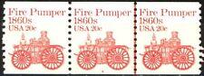 Fire Pumper 1860s Transportation Coil MNH PNC3 Plate #4 Scott's 1908