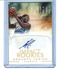2012-13 Panini Intrigue Kenneth Faried Impact Rookies RC GOLD AUTO 09/10!!!!!!!!