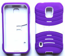 Samsung Galaxy S5 Active SM-G870A (AT&T) Phone Cover PRO ARMOR U-Case sPURP/WHT