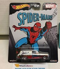 '64 Chevy Nova Delivery Spider-Man MARVEL * Hot Wheels Pop Culture * C23
