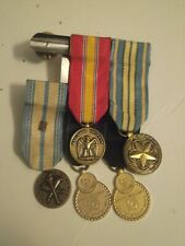 New listing Original Us Navy lot of 5 mounted mini-medals