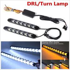 1 Pair Car Switchback LED Flexible Switchback Flow Light Strip Arrow Flasher DRL