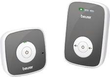 Beurer BY 33 Weiss-Grau Babyphone, strahlungsarm, bis zu 300m, Akku, Netzbetrieb