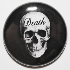 "1"" (25mm) Death Skull Horror Goth Button Badge Pin - High Quality - MADE IN UK"