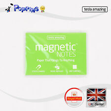 New tesla amazing Magnetic Notes Paper M Size 10cm x 7cm Green