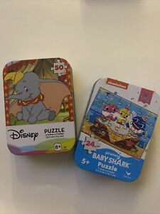 Disney Dumbo 50 Piece Puzzle And Nikelodeon Baby Shark 25 Piece Puzzle