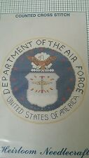 AIR FORCE Heirloom Needlecraft Counted Cross Stitch DEPT. OF AIR FORCE