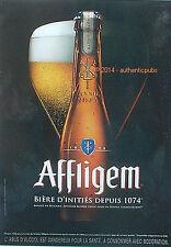 PUBLICITE AFFLIGEM BIERE BLONDE BRASSE BELGIQUE DE 2014 FRENCH AD BEER CERVEZA