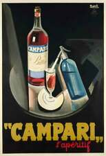 Italian Campari, l'apéritif, 1926 Vintage Liquor Advertising Canvas Print 20x29