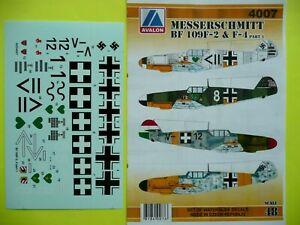 Avalon Decals 1/48_ Messerschmitt Bf-109F-2 & F-4