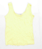 Dorothy Perkins Womens Size 16 Strappy Yellow Top (Regular)
