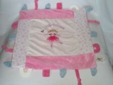 2014 MAISON CHIC Plush LITTLE PRINCESS BLANKET Pink Baby Ballerina Fairy Teether