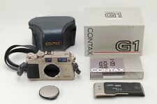 =N.Mint- in Box Contax G1 Rangefinder Body, Data Back GD-1, Case from Japan #q10
