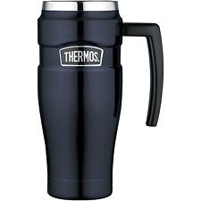 Thermos Stainless Steel King Travel Mug 470ml Midnight Blue Vacuum Flask Drink