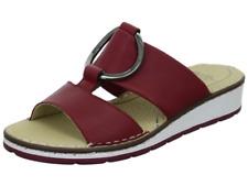 Ara 12-16166 Ladies Red Leather Mule Sandal