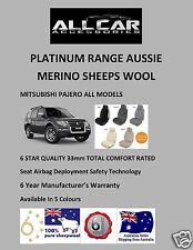 Mitsubishi Pajero Sheepskin Car Seatcovers,6 Star Luxury, 5 Colours ,Airbag safe