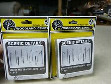 -HO STREET & TRAFFIC LIGHTS  WOODLAND SCENICS   LOT OF 2