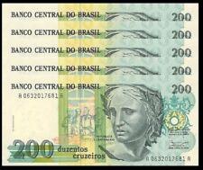 Brazil 1000 Cruzeiros 231b P Amazonian Fish Crisp UNC