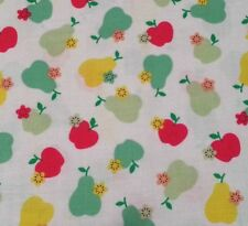 """22"""" Sugar Blossom by Sparky & Marie Quilting Treasures Pears Apples on Off-White"""