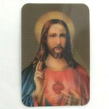 Holographic 3D Effect Lenticular Display Stereoscopic Sacred Heart of Jesus Card