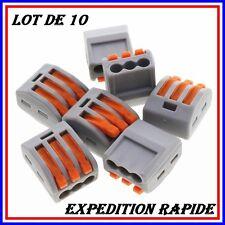 10PCS WAGO levier de printemps clippé câble réutilisable 3 fils KK