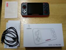 Anbernic RG350 Black and Orange Handheld Game Console with extras