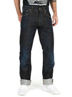 Nudie Herren Regular Straight Fit Bio Denim Jeans | Average Joe Dark Crinkle