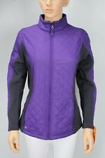Ideology Colorblocked Quilted Jacket Night Iris Purple