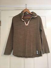 Tom Joules Khaki Green Thin woman's Sweater Long Sleeve jumper size 8