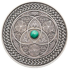 FIJI 10$ 2016 MANDALA ART Coin - CELTIC Silver 3oz Antique Finish Wordwide 500