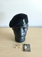 British Army Inns of Court & City Yeomanry Beret, Shoulder Badges & Slide. 54cm.