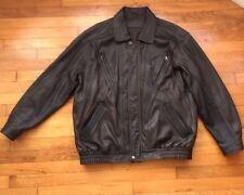 WESTBURY mens XXL XL vintage brown leather bomber jacket