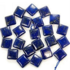Natural AAA 12mm Egyptian Lapis Lazuli Square Gems Loose Beads 15''