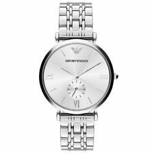 NEW Unisex Watch Emporio Armani AR1819 Classic Silver Quartz Stainless Steel