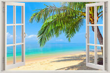 Huge Window Wall sticker Ocean view islands Beach Vinyl Decor 3d Mural Art Home