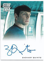 Star Trek Into Darkness 2014 ~ ZACHARY QUINTO Auto/Autograph Card Spock