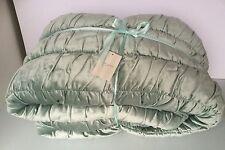 Delaney Duck Egg Blue Velvet Quilt Throw Bedspread 200 cm x 200 cm Double New