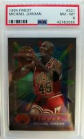 1994 94 TOPPS FINEST Michael Jordan #331, Graded PSA 8, Premium MJ !