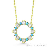Eternity Charm CZ & Nano Crystal Pendant & Chain Necklace in 925 Sterling Silver